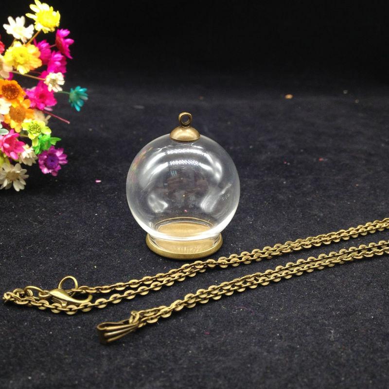 3sets/lot 30*20mm glass globe ordinary tray glass vial