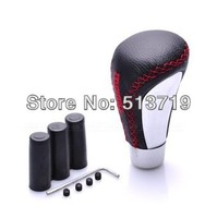 Dongzhen Manual Transmission Fashion Universal Gear Shift Knob For Most Of Car Aluminium Alloy+Genuine Leather