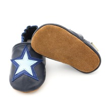Infant Newborn Baby Shoes Genuine Leather Baby Boys Soft Shoes Booties Lovely Star Styles Baby Boys Crib Shoes 1