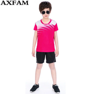 Men Kids Boys Child Training Football 2017 Jerseys Kit Sports Soccer Jerseys Tennis Shirts Shorts Children