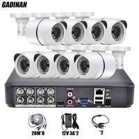 GADINAN 8CH Full 960H CCTV System Video Recorder Analog 1000TVL Outdoor Waterproof Bullet Security Camera Surveillance