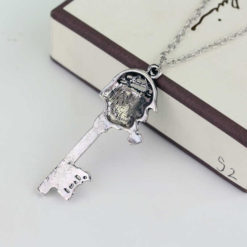 MQCHUN Fashion Jewelry Movies Sherlock Holmes 221B Face Key Pipe Hat Charm  Pendant With Necklace-30