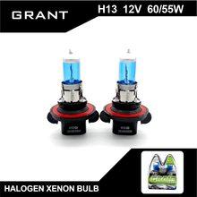 GRANT H13 9008 Halogen Bulbs 65 55W High Low beams DC12V Xenon White Blue Plated Quartz