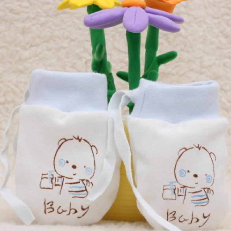 2Pairs Baby Mittens Newborn Kids Girl Cheap Stuff Boy Accessories Glove Anti-Scratch Cartoon Scratch