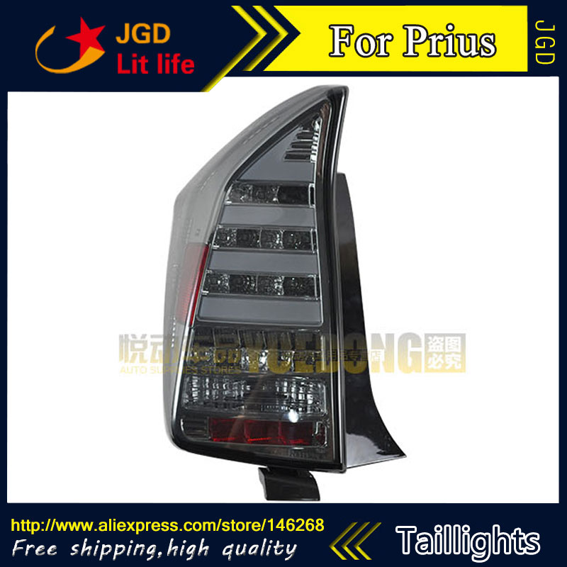 Car Styling tail lights for Toyota Prius taillights LED Tail Lamp rear trunk lamp cover drl+signal+brake+reverse car styling tail lights for hyundai santa fe 2007 2013 taillights led tail lamp rear trunk lamp cover drl signal brake reverse