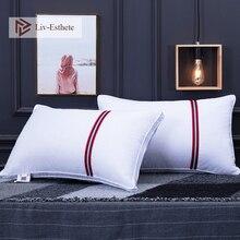 Liv-Esthete 2019 Hot Sale White Pillow Remedial Neck Protect Vertebrae Health Sleep Slow Rebound For Side Sleeper