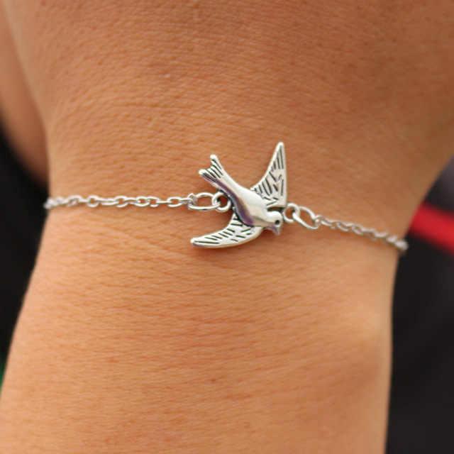Hot Vintage-Schmuck Charme Armbänder Für Männer Frauen Armreif Kreuz Herz Handschellen Vogel Liebe Frieden Auge Link Wrap Kette Armband geschenk