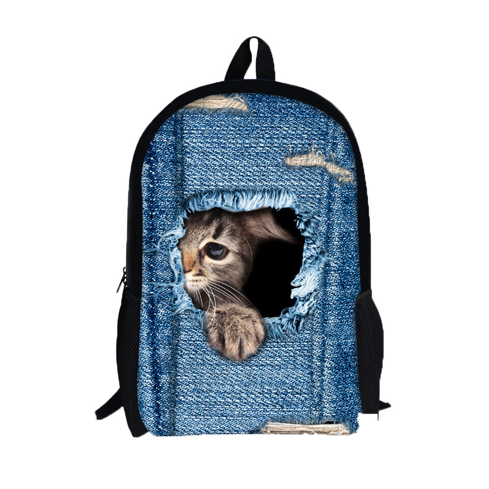 3D creative cat animal cowboy bag backpack Animal Print Cat Dog Backpack Student School Travel Teenage Backpack bag H305083D creative cat animal cowboy bag backpack Animal Print Cat Dog Backpack Student School Travel Teenage Backpack bag H30508