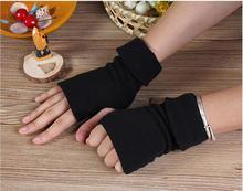 new Unisex Adults Half Finger Gloves Plain Knitted Fingerless Winter Warm Mittens
