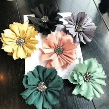 Korea Handmade Modern Flower Rhinestone Brooches Pins Badges Fashion Jewelry For Woman Suits Accessories-YHGWBH026F