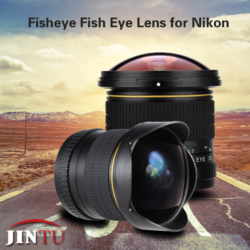JINTU 8mm f/3.5 Grand Angle Ultra Fisheye Objectif Manuel pour Nikon DSLR Caméra D7000 D7200 D7100 D3100 d3200 D5200 D5400 D800 D90