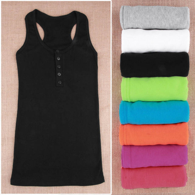 Ladies Multicolor Cotton long Tank top  blouses.