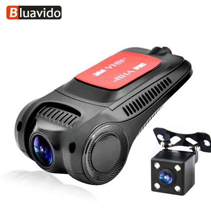 Bluavido Car DVR Dashcam Recorder Wifi-Monitor Car-Video-Camera Night-Vision Novatek