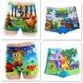 Envío Gratis Kids trajes de Baño niños Troncos de Natación troncos de natación pantalones cortos de Los Bebés de Dibujos Animados Carácter Muchacho de la Ropa Cortocircuitos de la Playa