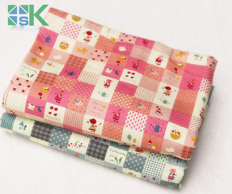 DIY sewing fabric patchwork 100% cotton cloth fabric soolum girl printed cloth meters for any kind of fabric project
