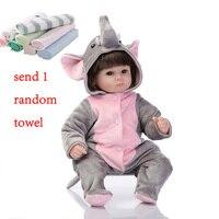 NPK 40cm Simulation Baby Dolls Reborn Baby Doll Silicone Dolls Lifelike Dolls Lovely Elephant Reborn Toddlers Toys For Children