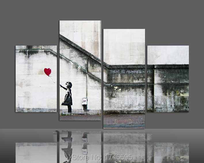 Banksy Wall Art hope banksy canvas reviews - online shopping hope banksy canvas
