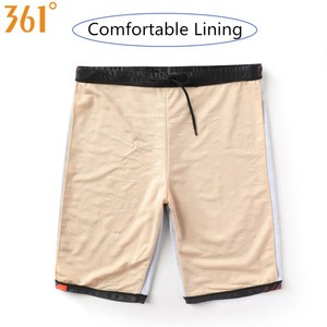 Image 5 - 361 Chlorine Resistant Swimwear for Men Long Swimming Trunks Professional Men Swim Wear Athletic Tight Swim Shorts Boys Swimsuit