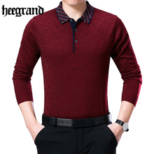 HEE GRAND 2017 Fashion Turn-down Collar Full Sleeve O-neck Plus Size Pullovers High Quality Sweaters MZL766