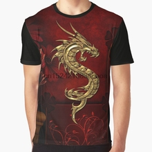 09d42bbcd All Over Print 3D Tshirt Men Funny T Shirt Wonderful golden chinese dragon  Graphic T-