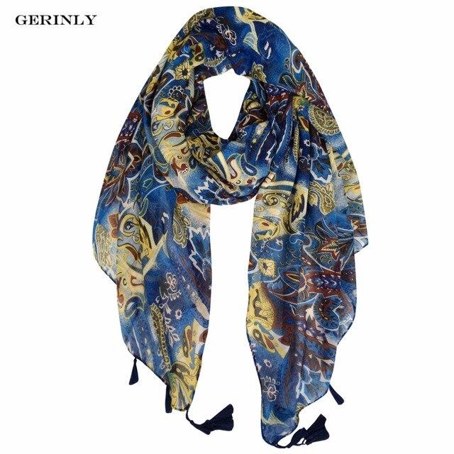 180 90 cm Écharpe De Luxe Femmes Marque Style Ethnique Foulards Dames  Nouveau Design Glands 03c9b9df253