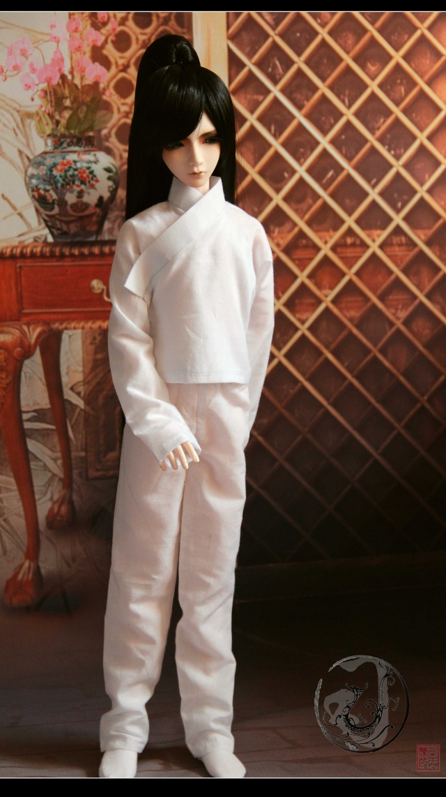 Bjd doll costume bjd china ancient clothing white in clothing capris basic  13 measurement