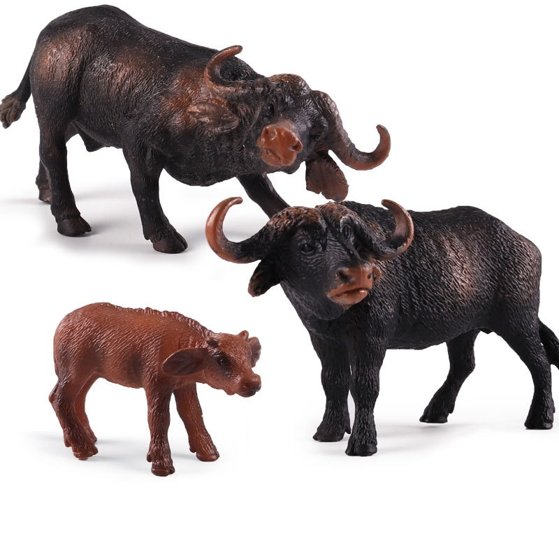African Buffalo Figurines Animal Ornaments Decor Home Furnishing Statues Decoration Accessories Kids Gift Toys figurine