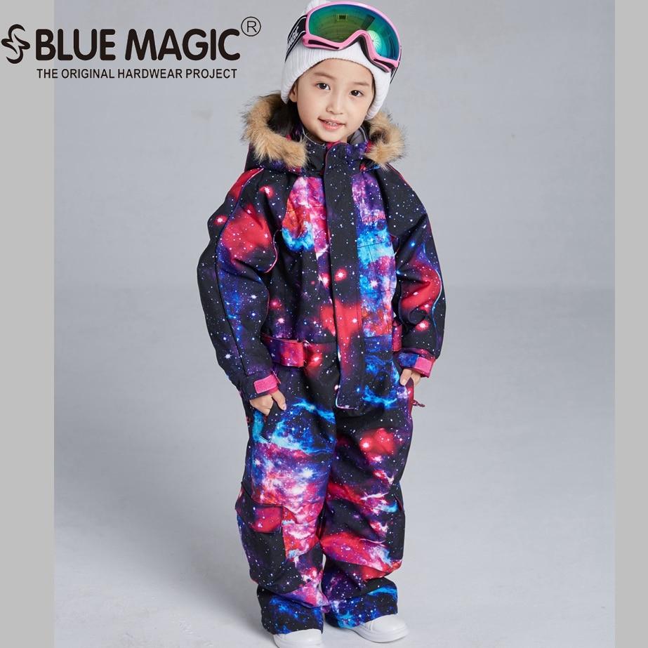 Bluemagic зимние лыжные костюмы для малышей, один предмет для детей, водонепроницаемый теплый комбинезон для девочек и мальчиков, Сноубордическая куртка, комбинезон-30 градусов