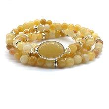 Модный браслет из камня с бусинами эластичное ожерелье mala