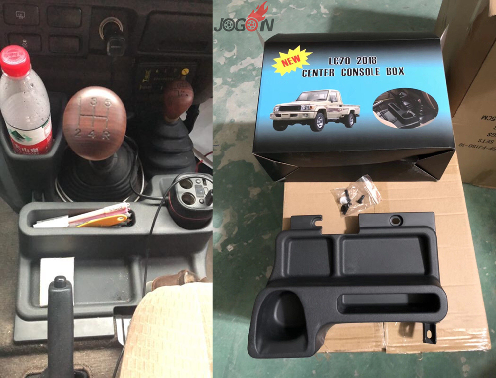 console central do carro caixa de apoio braco para toyota land cruiser fj70 fj76 fj77 fj78