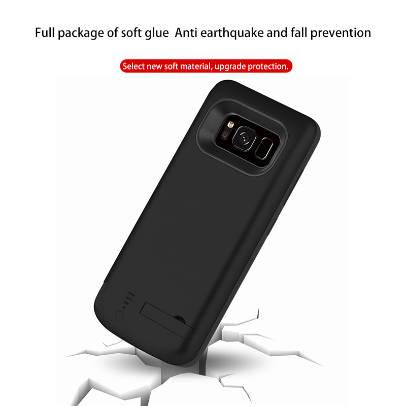 Image 3 - 5000/6500mAh Battery Charger Case For Samsung Galaxy S8 Portable Travel Charging Power Bank Phone Case Cover For Samsung S8 PlusBattery Charger Cases   -
