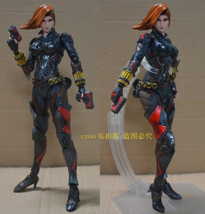Original Play Arts Kai Black Widow Super Hero Age of Ultron Natasha Romanoff PVC Action Figure