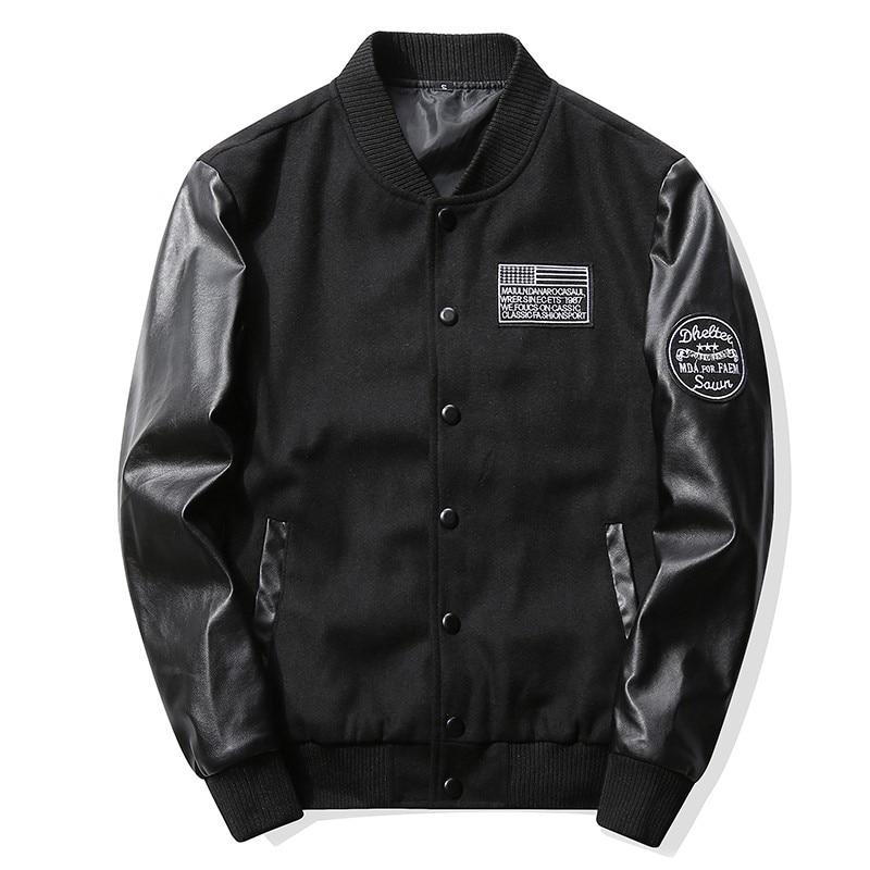 Men Jacket Spring Autumn New Casual Baseball zipper Jacket Men High Quality Jacket mens jackets and coats KXP18 J12-20 P-BBY