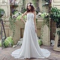 Summer 2016 Chiffon A Line Casual Beach Wedding Dress Boho Cheap Vestidos De Novia Bohemia Wedding