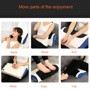 Image 3 - Neck Shoulder Back Body Electric Massage Pillow Infrared Heating Shiatsu Massager Device Cervical Healthy Massageador Relaxation