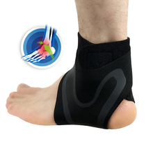 Breathable SBR Ankle Support Compression Adjustable Ankle Brace Wrap Basketball Football Running Ankle Protection Left/Right цена 2017