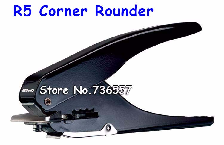 Free Shipping R5 Flat Hole ID Business Criedit PVC Paper Card Corner Rounder Oval 15*4mm Punch Perforating Cutter Pliers