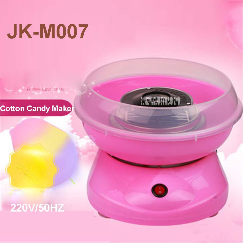 JK-M007 Electric Home Cotton Candy Maker Mini Portable Cotton Sufficient  220 V /50HZ Machine food grade material  450W Power 500w pp material home used electric cotton candy machine for family