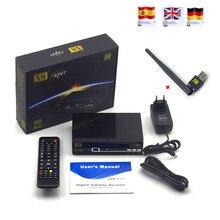 3 pcs FREESAT V8 super DVB-S2 Récepteur Satellite FTA HD 1080 P internet partage soutien clines/newcam/mgcam/biss key avec USB WIFI