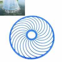 Filet de pêche en fonte 48 cm outil accessoire réseau américain anneau en aluminium attraper des filets de pêche anneau de corde à la main