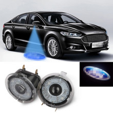 Dreauto 2Pcs/Set LED Under Side Mirror Light Car-styling Puddle Lamp Car Rearview For Ford Edge Mondeo Explorer F150