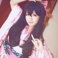 Love Live! Yazawa Nico Niko Black Long Kimono Ver Cosplay Wig