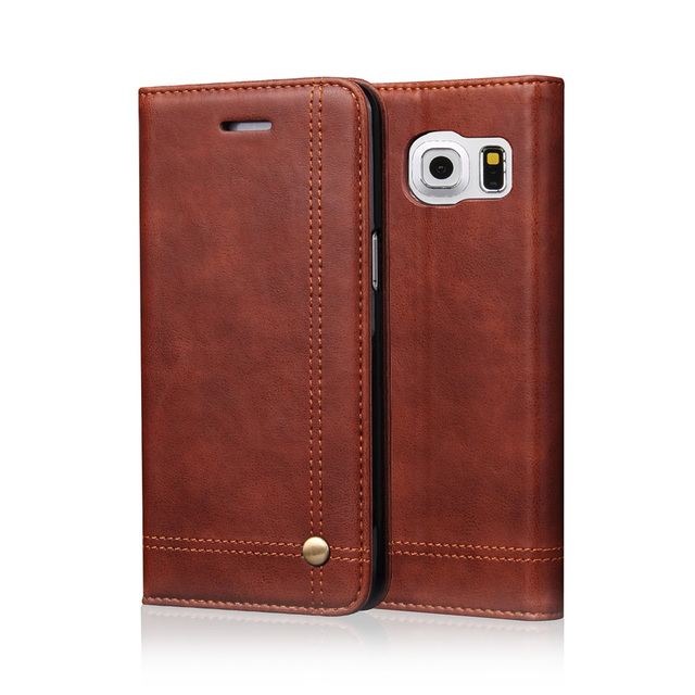 Flip Leather Phone Cases For Samsung Galaxy S7 S8 Plus Note 7...