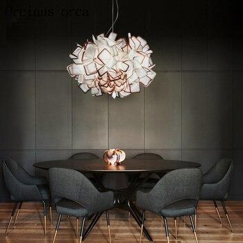 Современная люстра, люстра в скандинавском стиле, оригинальная, для столовой, гостиной, художественное освещение, простая, бесплатная доста...