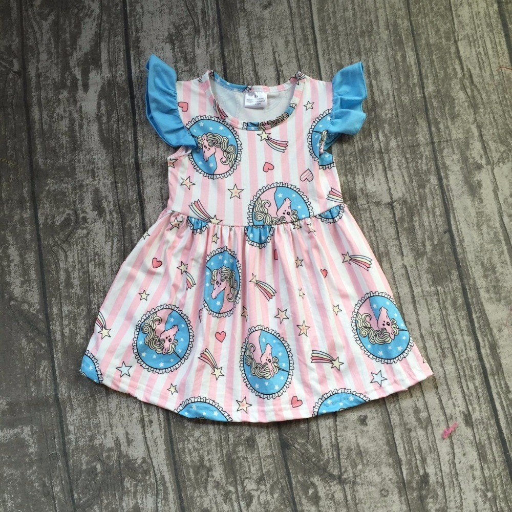 baby girls summer dress clothing girls unicorn dress children boutique summer dress children milk silk dress soft dress new arrival baby girls summer milksilk dress girls floral dress children soft boutique dress summer floral dress clothing