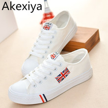 Akexiya Casual Shoes Canvas Shoes Women 2017 New Arrival Hot Fashion Zapatos Mujer Unisex Shoes Tenis