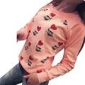 Женщины С Длинным Рукавом Симпатичные Сова Печати weatshirts Топ Повседневная Блузка Рубашка бесплатная доставка
