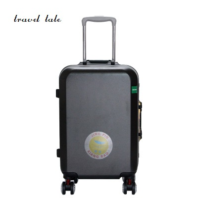 Aluminum alloy frame PC 20/24 inches rolling luggage spinner customs lock travel suitcase business travel Luggage 20 25 29 aluminum magnesium alloy metal luggage fashion spinner rolling suitcase business aluminum frame luggage