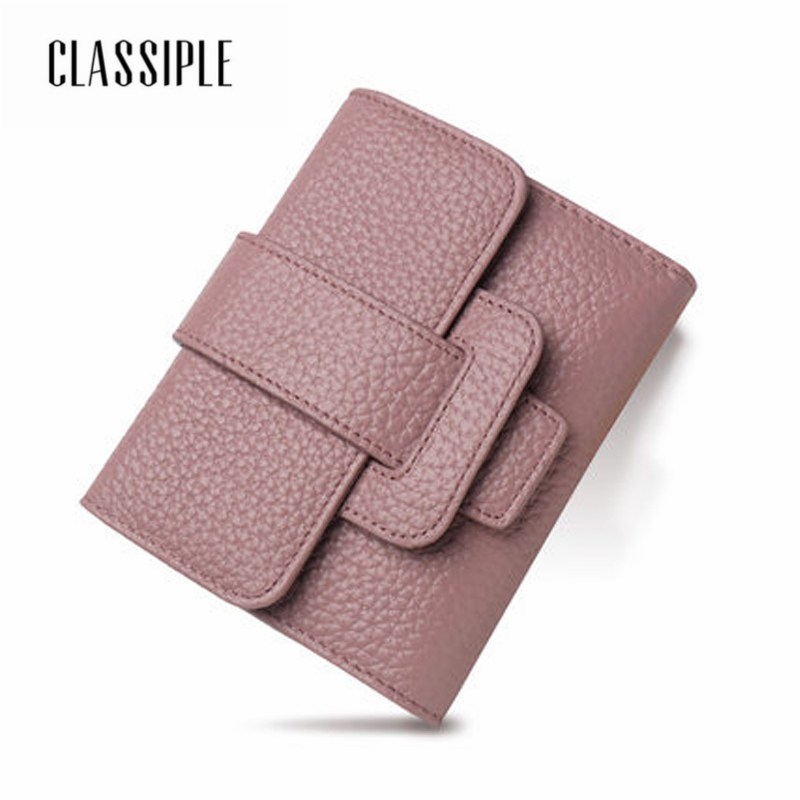 Women Wallet Genuine Leather Female Coin Purse 2018 Fashion Bag Wallet Cow Leather Ladies Short Wallets Card Holders Students molave wallets wallet female solid coin purse pu leather women simple retro letters short wallet coin purse card holders feb8