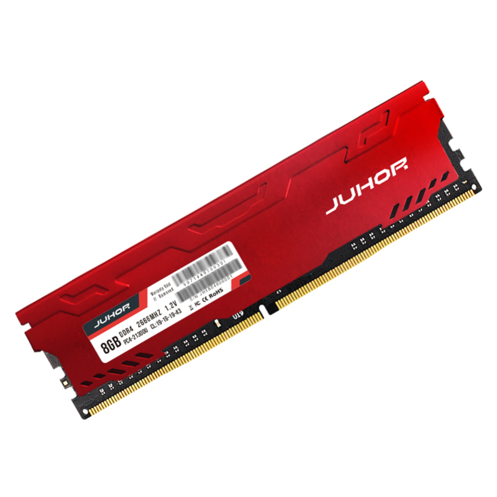 JUHOR Red Color <font><b>DDR4</b></font> Desktop Memory RAM 8GB <font><b>16G</b></font> <font><b>DDR4</b></font> 2666mhz <font><b>PC4</b></font>-<font><b>21300</b></font> 288pin Memory RAM image